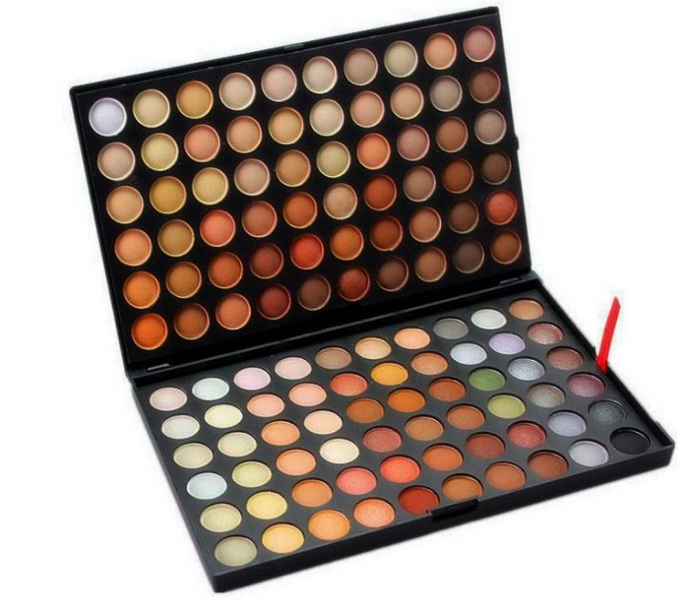 Trusa profesionala de farduri cu 120 culori neutre, Neutral Nude, P4-big