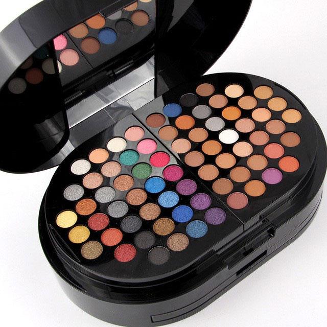 Trusa profesionala pentru machiaj Miss Rose Professional BRILLIANT Make Up Palette, 130 culori-big