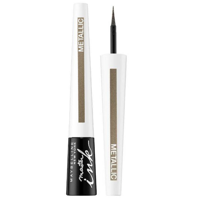 Tus de ochi Maybelline New York Master Ink Liquid Eyeliner, Metallic, Shimmer Sand-big