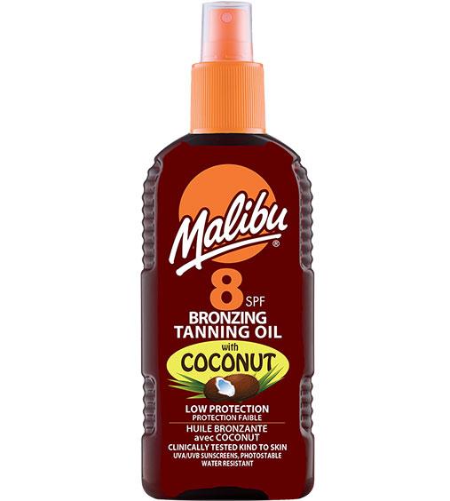 Ulei De Plaja Accelerator MALIBU Bronzing Tanning Oil cu Ulei de Cocos, SPF8, 200 ml-big