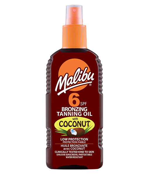 Ulei De Plaja Accelerator MALIBU Bronzing Tanning Oil cu Ulei de Cocos, SPF6, 200 ml-big