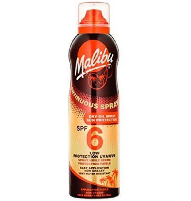 Ulei de Plaja MALIBU Continuous Spray Dry Oil, Rezistenta la apa, UVA/UVB, SPF6, 175 ml-big