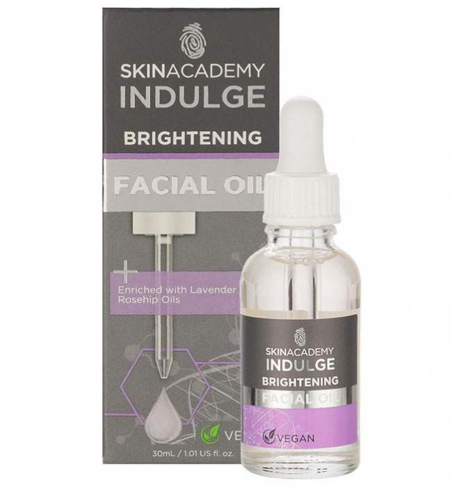 Ulei facial anti-roseata cu Lavanda si Ulei de Macese SKIN ACADEMY Brightening Facial Oil, 30 ml-big