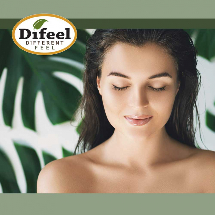 Ulei tratament premium antiseptic pentru par subtire, fragil, rol anti-cadere, Difeel 99% Natural din Ulei de Jojoba, 75 ml-big