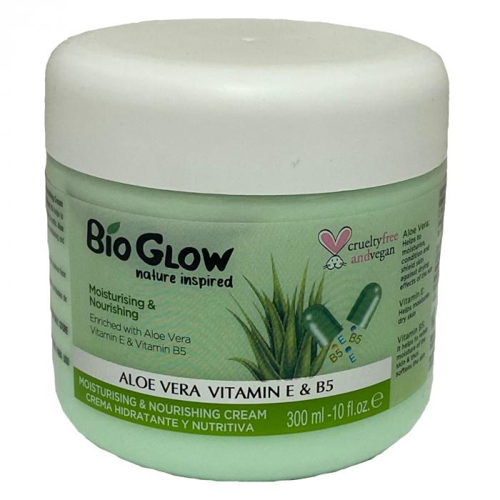 Unt de Corp Bio Glow cu Aloe Vera, Vitamina E & B5, pentru calmare, piele sensibila si iritata, 300 ml-big