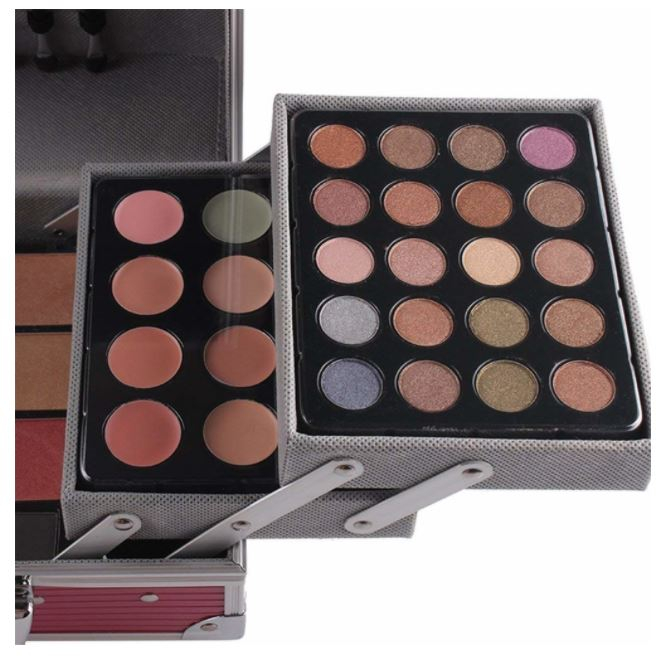 Valiza De Machiaj Multifunctionala Miss Rose Professional Makeup, Simple Pink Case-big