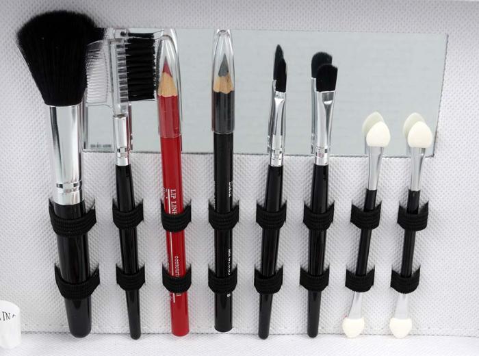 Valiza Profesionala Machiaj, Multifunctionala, Magic Color Makeup Kit, Charming Silver-big