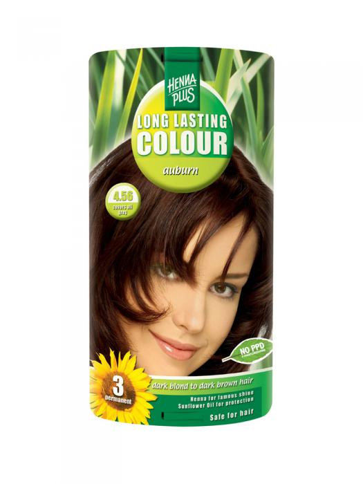 Vopsea de Par HennaPlus Long Lasting Colour - Auburn 4.56-big