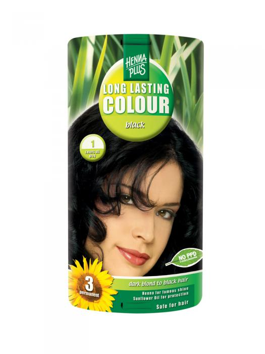 Vopsea de Par HennaPlus Long Lasting Colour - Black 1-big