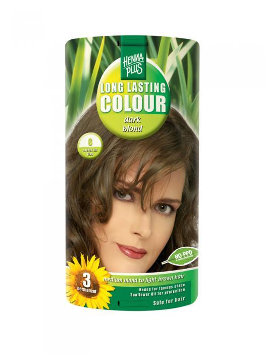 Vopsea de Par HennaPlus Long Lasting Colour - Dark Blond 6-big