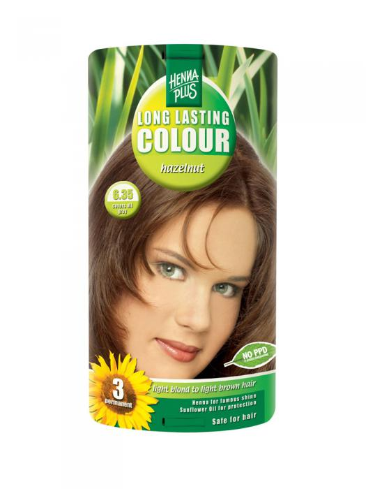 Vopsea de Par HennaPlus Long Lasting Colour - Hazelnut 6.35-big