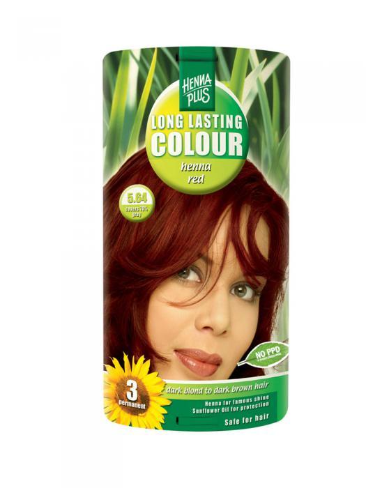 Vopsea de Par HennaPlus Long Lasting Colour - Henna Red 5.64-big