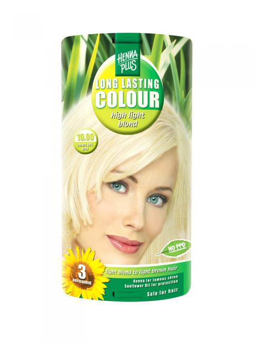 Vopsea de Par HennaPlus Long Lasting Colour - High Light Blond 10.00-big
