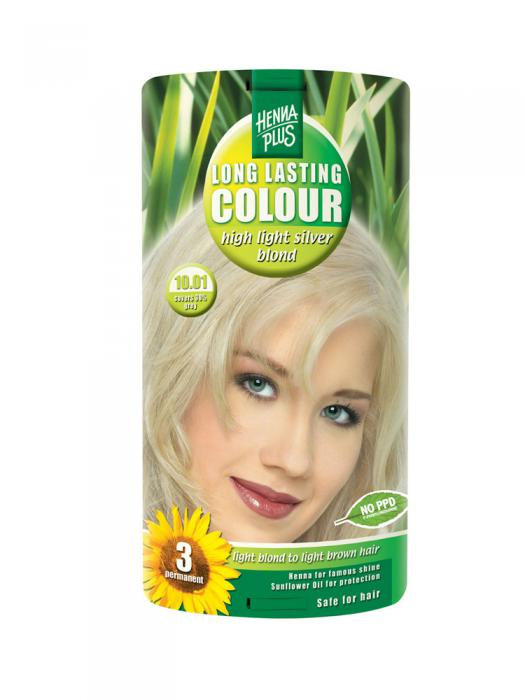 Vopsea de Par HennaPlus Long Lasting Colour - High Light Silver Blond-big