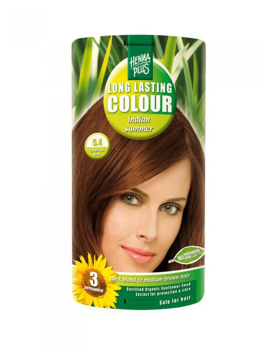 Vopsea de Par HennaPlus Long Lasting Colour - Indian Summer 5.4-big