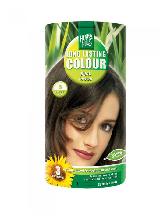 Vopsea de Par HennaPlus Long Lasting Colour - Light Brown 5-big
