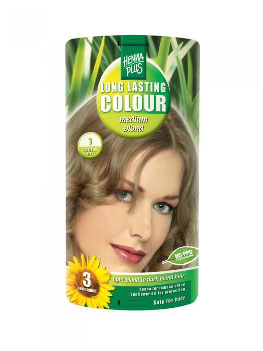 Vopsea de Par HennaPlus Long Lasting Colour - Medium Blond 7-big