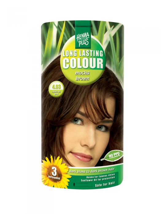 Vopsea de Par HennaPlus Long Lasting Colour - Mocha Brown 4.03-big