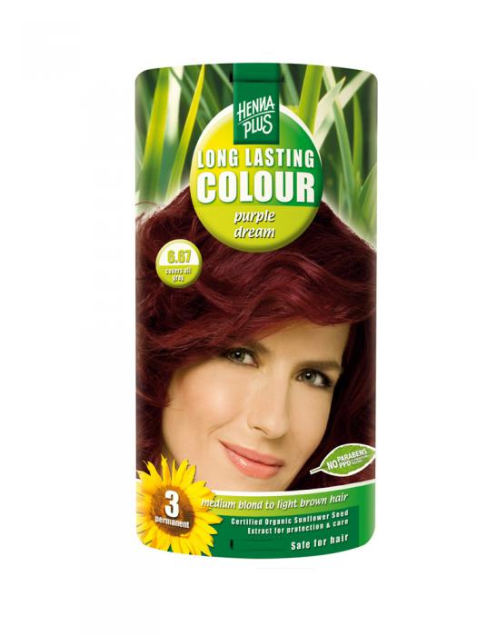 Vopsea de Par HennaPlus Long Lasting Colour - Purple Dream 6.67-big