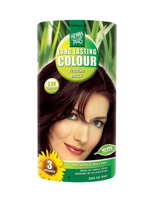 Vopsea de Par HennaPlus Long Lasting Colour - Reddish Black 2.66-big