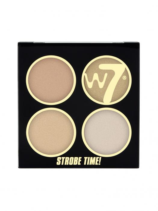 Kit Pentru Bronz Si Iluminare W7 Strobe Time - Vivid Glow-big