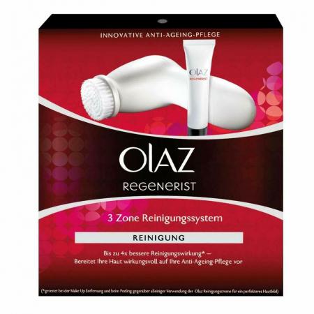 Aparat curatare faciala anti-age OLAZ Regenerist 3 Zone cu perie rotativa si Gel de Curatare Ten1