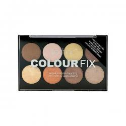 Paleta Profesionala cu 8 Iluminatoare Pudra TECHNIC Colour Fix Highlighter Palette, 15.6g