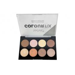 Paleta Profesionala cu 8 Iluminatoare Pudra TECHNIC Colour Fix Highlighter Palette, 15.6g1