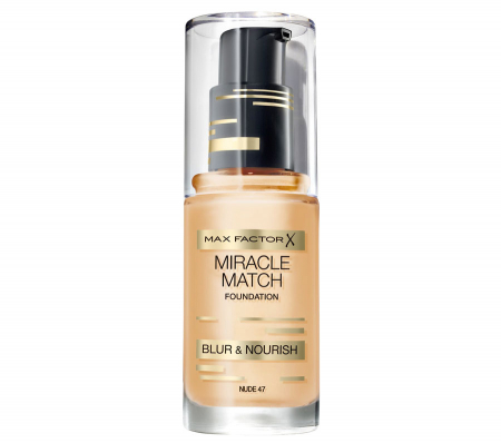 Fond de ten Max Factor Miracle Match, 47 Nude, 30 ml