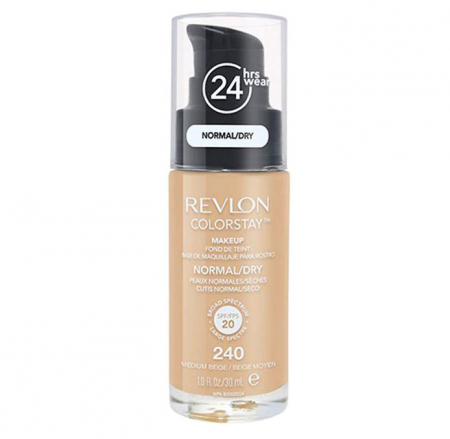Fond De Ten Revlon Colorstay Normal / Dry Skin Cu Pompita - 240 Medium Beige, 30ml