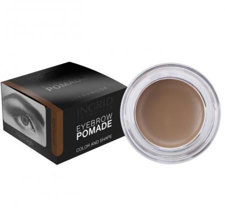 Gel Profesional pentru Sprancene INGRID Eyebrow Pomade Waterproof, Light Brown, 5g