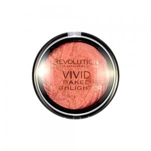 Iluminator MAKEUP REVOLUTION Vivid Baked Highlighter - Rose Gold Lights, 7.5g