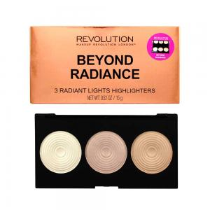 Paleta iluminatoare MAKEUP REVOLUTION 3 Radiant Lights Highlighter Palette - Beyond Radiance, 15g1