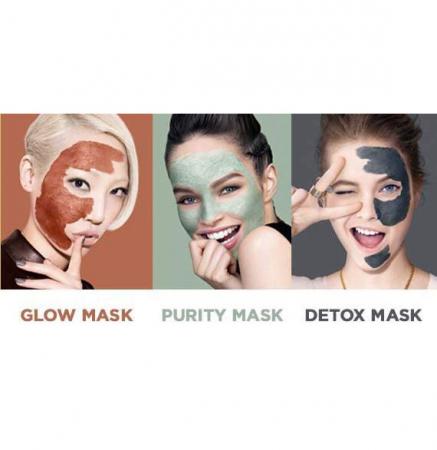 Kit 3 Masti pentru Ten L'Oreal 3 Pure Clays Multi-Masking Face Mask Play Kit, 3 x 10 ml4