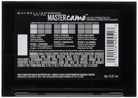 Kit pentru corectarea imperfectiunilor Maybelline New York Master Camo 01 Light, 6.5 g2
