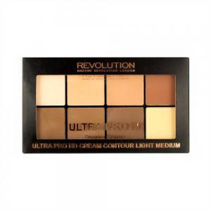 Paleta MAKEUP REVOLUTION HD Pro Powder Contour cu 8 Pudre Pentru Conturare - Light Medium, 20g3
