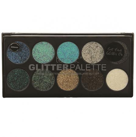 Paleta Technic Glitter Palette, Mermaid, 10 x 2.5g