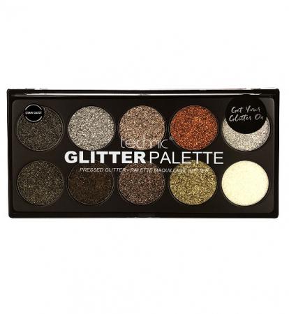 Paleta Technic Glitter Palette, Star Dust, 10 x 2.5g