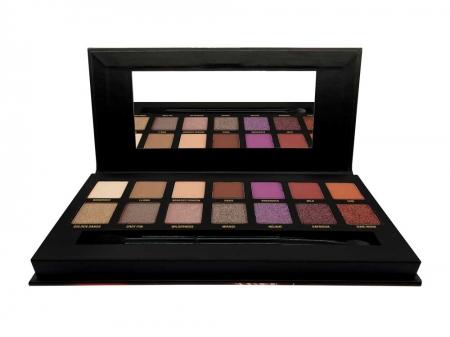 Paleta farduri W7 Dusk Till Dawn Eye Colour Palette, Ultra Violet Neutrals, 14 culori, 9.6g3