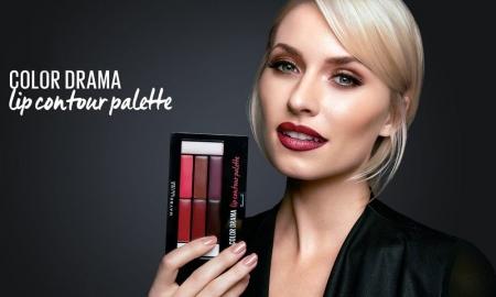 Paleta rujuri Maybelline New York Color Drama Lip Contour Palette, 01 Crimson Vixen, 4 g2