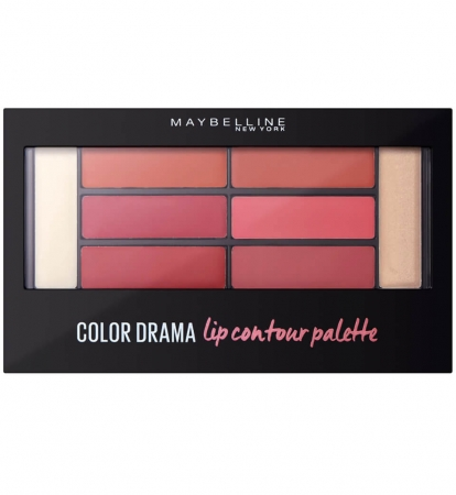 Paleta rujuri Maybelline New York Color Drama Lip Contour Palette, 02 Blushed Bombshell, 4 g1