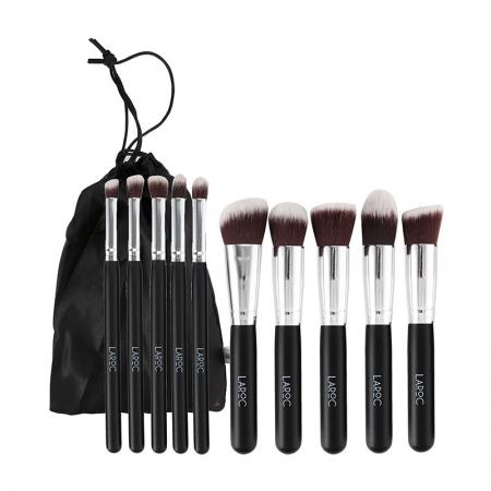 Set 10 Pensule Machiaj Profesionale LAROC Kabuki Brush Set0