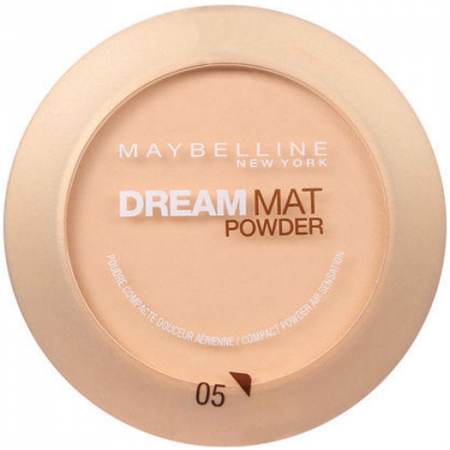Pudra compacta MAYBELLINE Dream Mat Powder, 05 Apricot Beige, 9 g