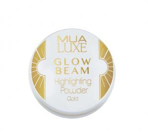 Pudra iluminatoare aurie Luxe Glow Beam Highlighting Powder MUA Makeup Academy Professional, Gold1