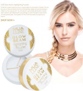 Pudra iluminatoare aurie Luxe Glow Beam Highlighting Powder MUA Makeup Academy Professional, Gold2