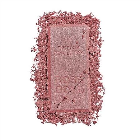 Iluminator compact Makeup Revolution, Ingot Highlighter - Rose Gold, 12g3