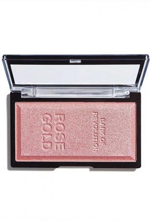 Iluminator compact Makeup Revolution, Ingot Highlighter - Rose Gold, 12g