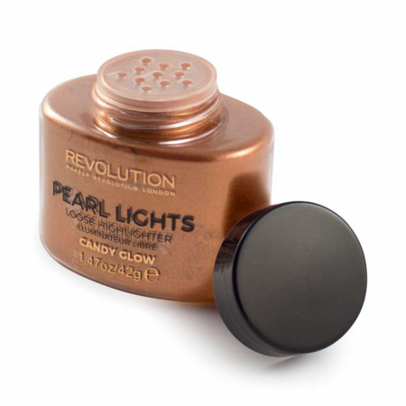 Iluminator Pulbere MAKEUP REVOLUTION Pearl Lights Loose Highlighter - Candy Glow, 25 g1