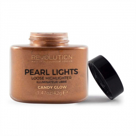 Iluminator Pulbere MAKEUP REVOLUTION Pearl Lights Loose Highlighter - Candy Glow, 25 g2