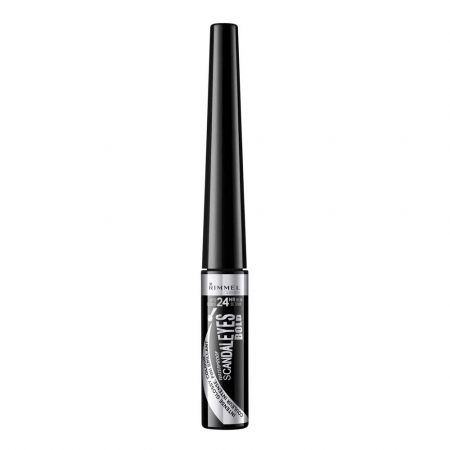 Tus de ochi lichid Rimmel London ScandalEyes Bold Waterproof, Black, 2.5 ml